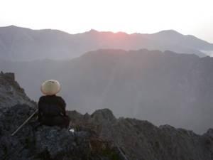Shugendō priest on mountain