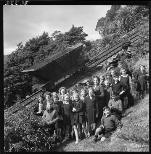 Nature lesson Denniston Incline 1945