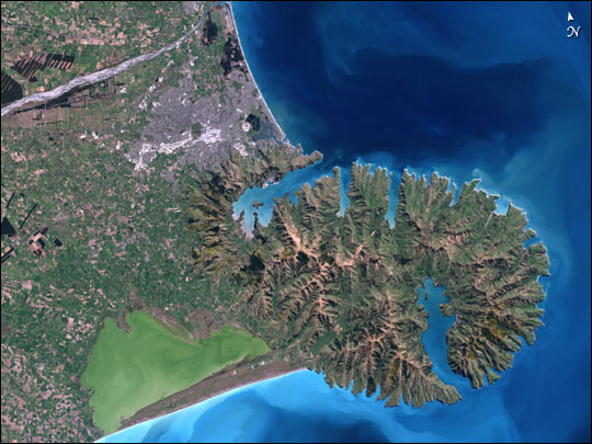 christchurch satellite view