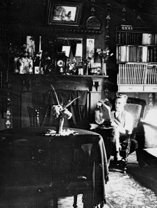 "A ""selfie"" of Charles E Wildbore in his drawing room, c 1910. Palmerston North City Library, ID 2007N_Pi342_PEO_0378"
