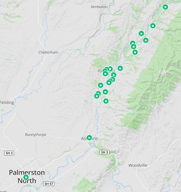 map of Wildbore geocaches
